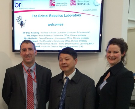Minister Counsellor Zhou Xiaoming visits BRL